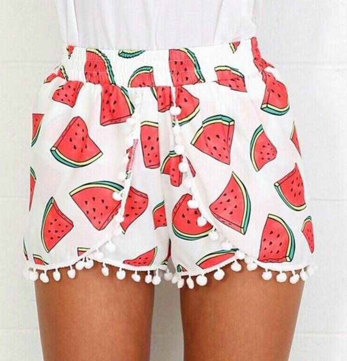 une-idée-comment-porter-short-coton-femme-watermellon