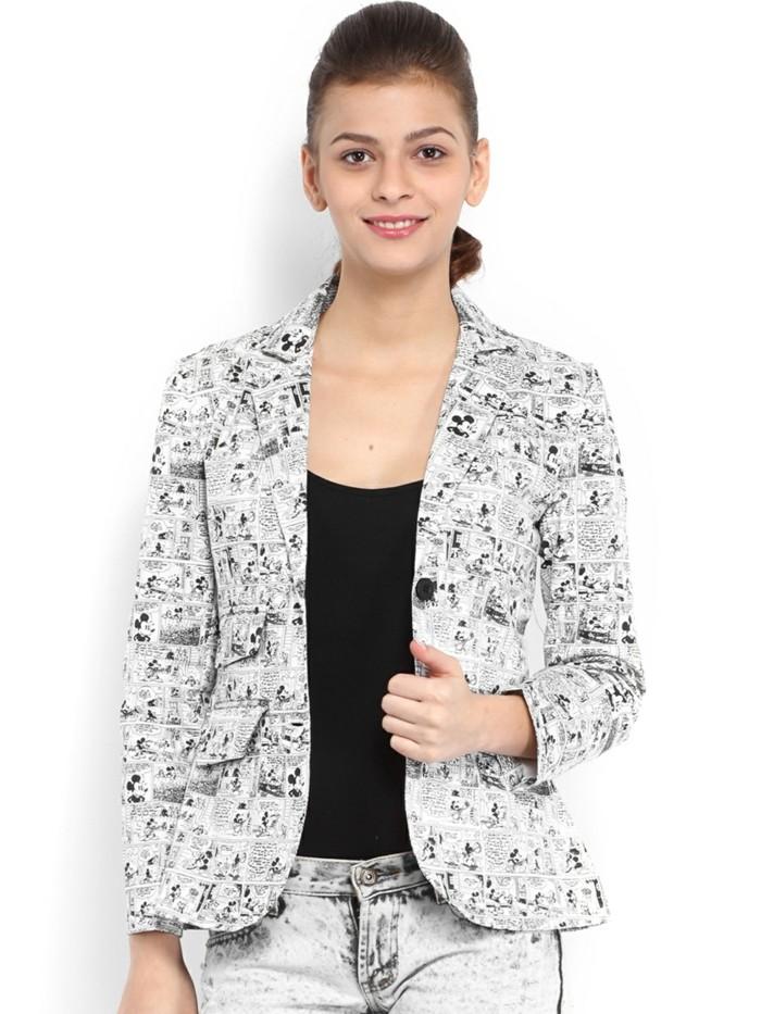 veste blanche pantalon noir femme les vestes la mode. Black Bedroom Furniture Sets. Home Design Ideas