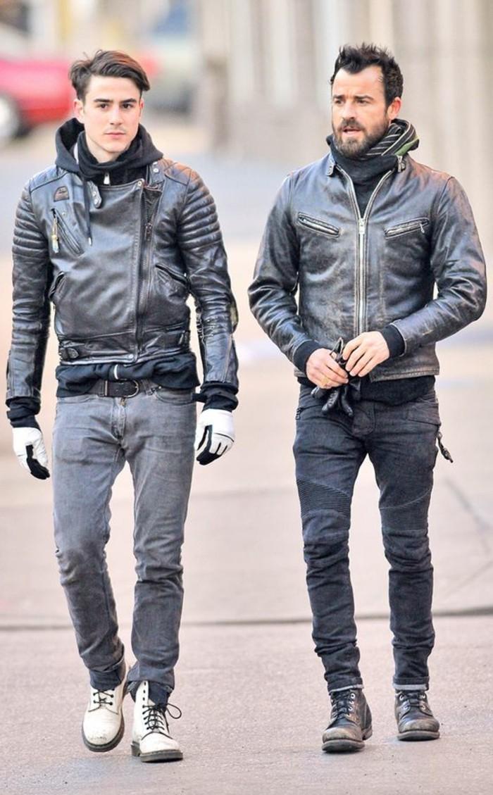 veste-homme-pas-cher-en-cuir-noir-denim-slim-moto-homme-pas-cher