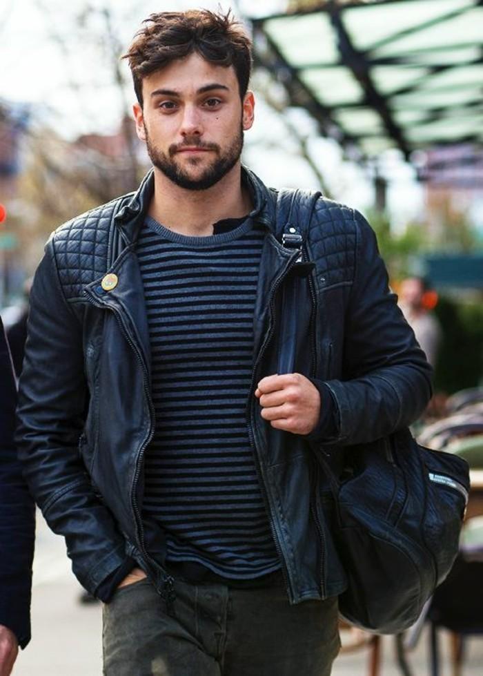 veste-homme-pas-cher-en-cuir-noir-les-dernieres-tendances-chez-la-mode-homme-2016