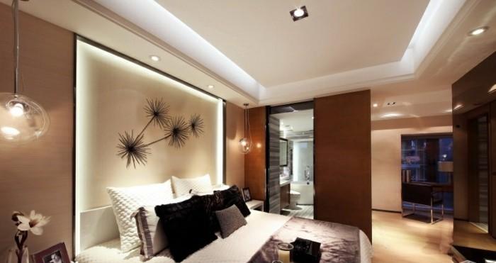 élégante-jolie-chambre-à-coucher-tete-de-lit-capitonnée