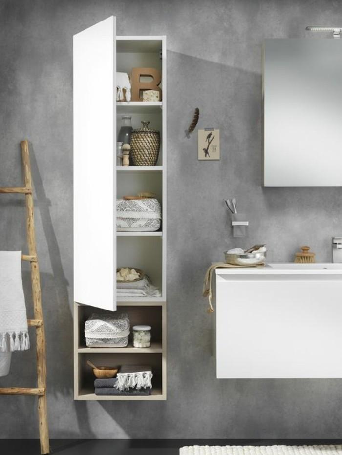 La colonne de salle de bain nos propositions en 58 photos - Modele salle de bain gris et blanc ...