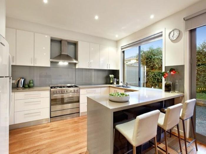 cuisine en u avec fenetre et bar solutions pour la d coration int rieure de votre maison. Black Bedroom Furniture Sets. Home Design Ideas