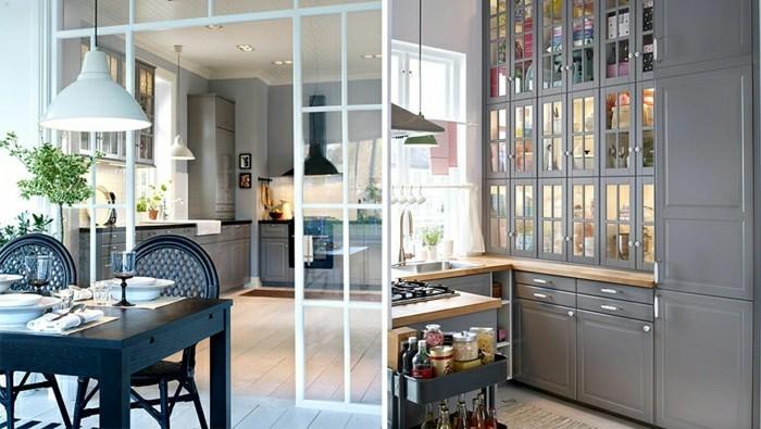 0-cuisine-semi-ouverte-couleur-grise-petits-tabeaux-sur-le mur-resized