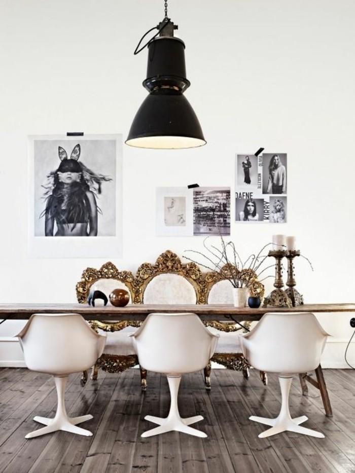 0-déco-salle-à-manger-idée-déco-chambre-sol-en-planchers-bois-chaises-en-plastique-blanc