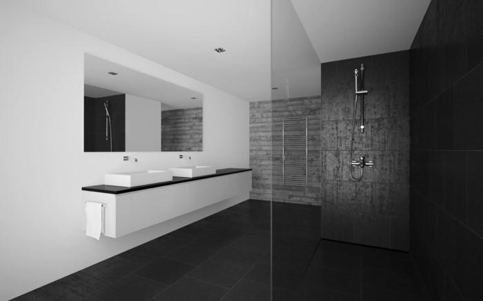 Exemple Salle De Bain Carrelage : idee deco salle de bain design a l italienne, salle de bain avec …