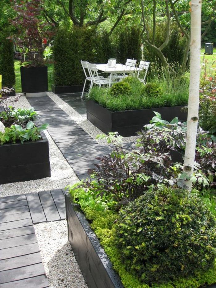 dalle jardin bois. Black Bedroom Furniture Sets. Home Design Ideas