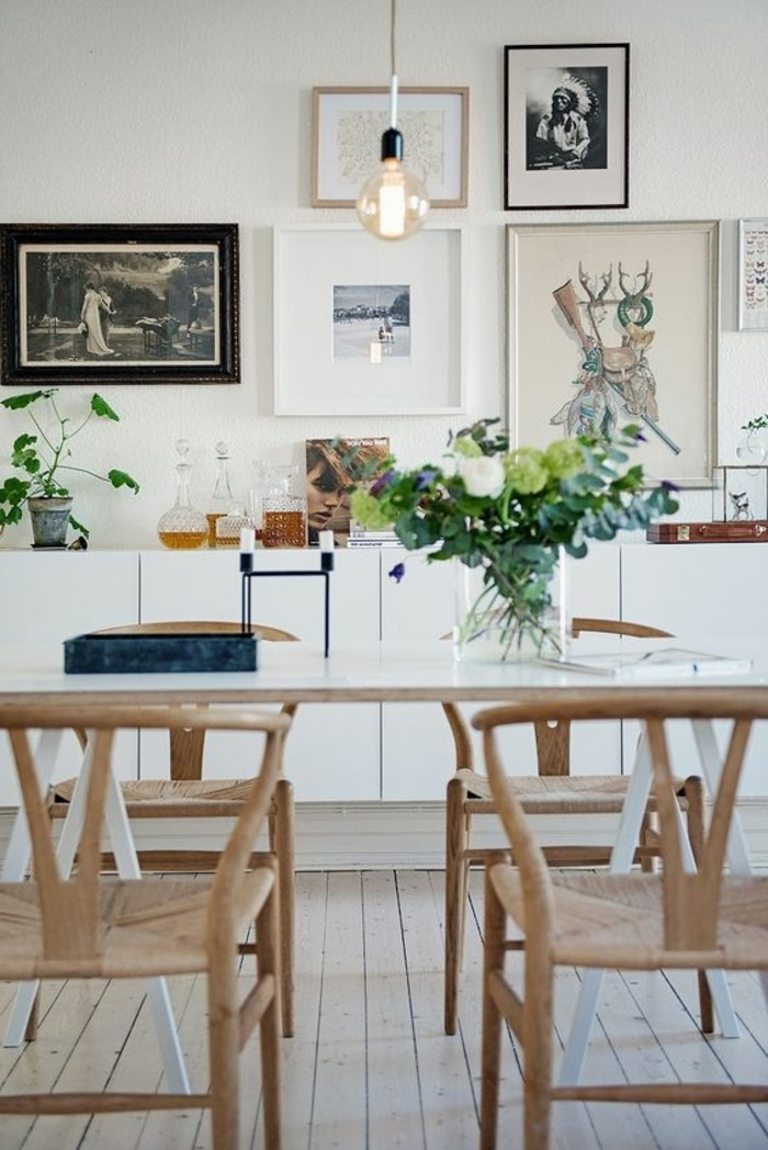 Quelle d co salle manger choisir id es en 64 photos - Deco industrielle scandinave ...