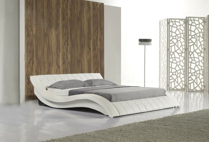 Chambre Champêtre Chic Lambris Blanc : Choisissez un lit en cuir pour bien meubler la chambre à
