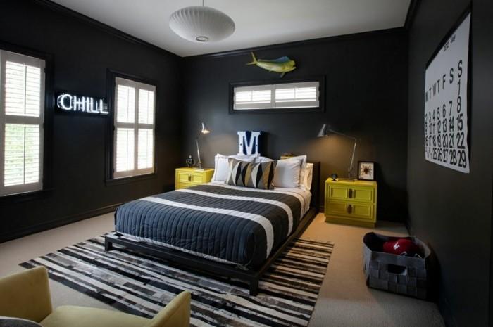 0-papier-peint-chambre-garçon-noir-tapis-blanc-noir-gris-anthracite-moquette-beige