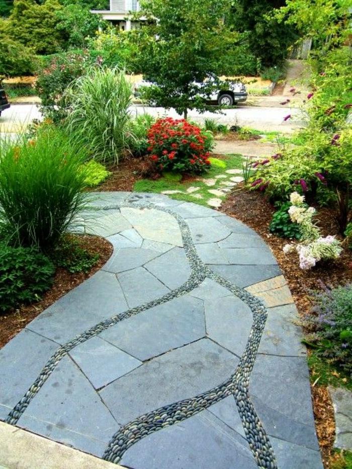 0-revetement-sol-exterieur-pas-cher-idee-jardin-exterieur-moderne-gravier-allée