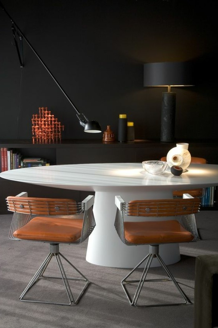La plus originale table de cuisine ronde en 56 photos for Chaise de cuisine blanche pas cher