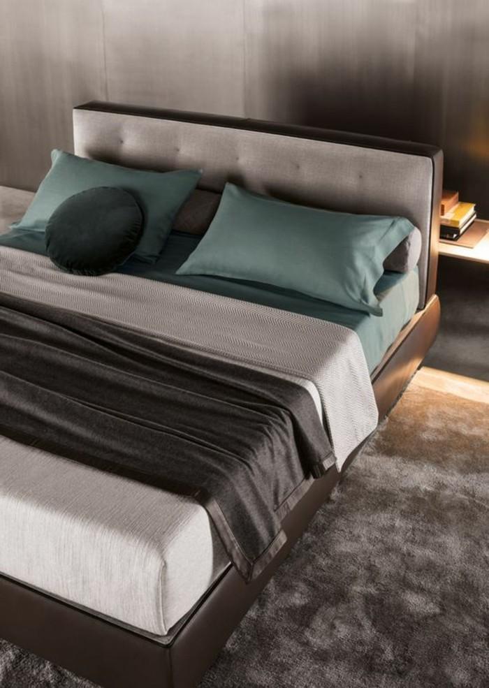 Choisissez un lit en cuir pour bien meubler la chambre - Tapisserie originale chambre ...