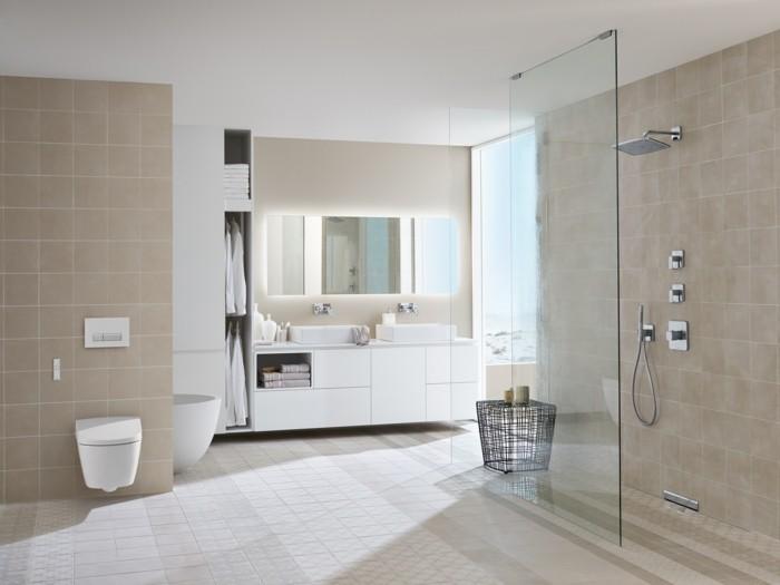 Deco Salon Marron Et Taupe : douche italienne castorama en beige,plafond blanc dans la salle de