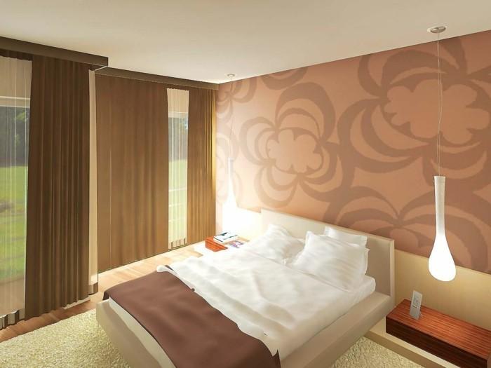 1-Peinture-beige-rosé-chambre-à-coucher
