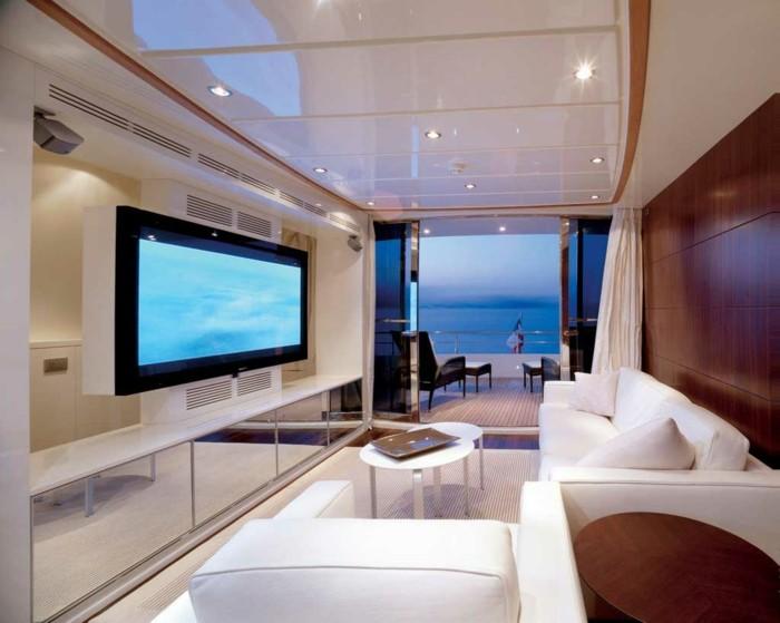 Maison styl e contemporaine l 39 aide de plafond moderne for Belle chambre a coucher