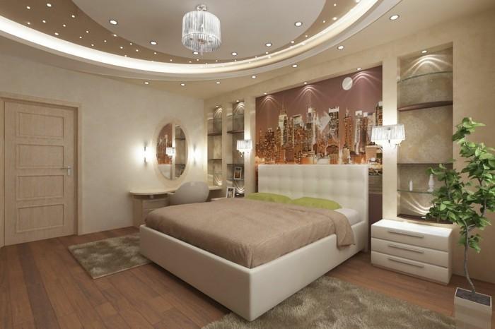 1-cool-idée-faux-plafond-contemporain-en-beige-chambre-à-coucher