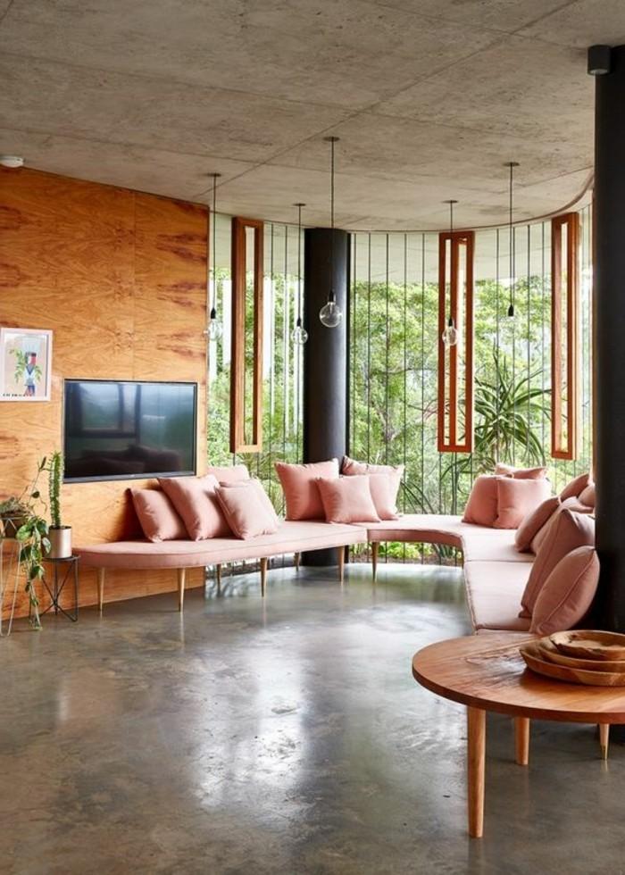 Couleur murale salon meilleures images d 39 inspiration pour votre design de maison for Peinture d interieur tendance