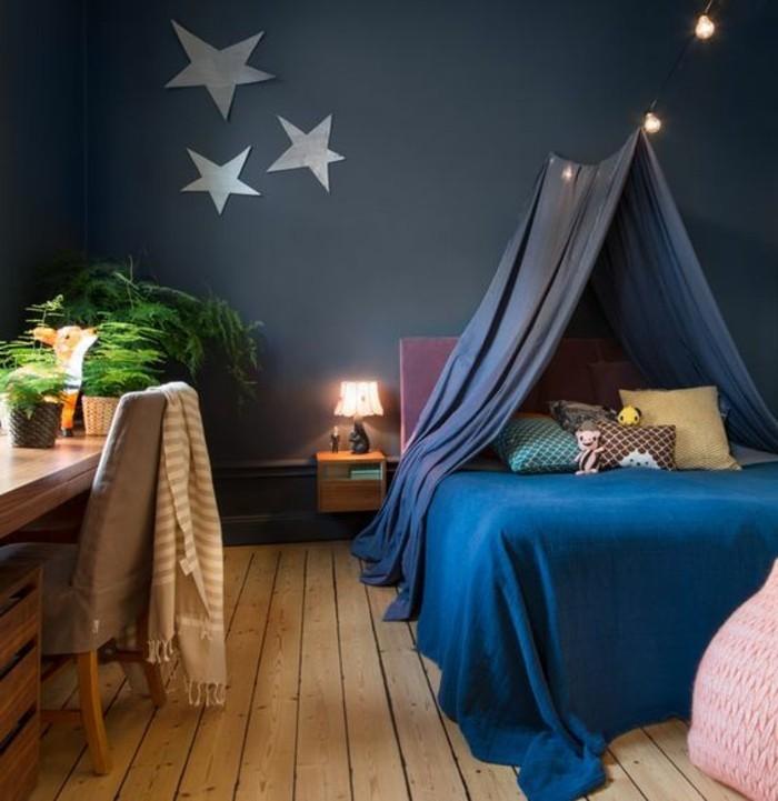 1-idées-pour-la-chambre-d-ado-sol-en-planchers-chambre-d-ado-fille-mur-gris