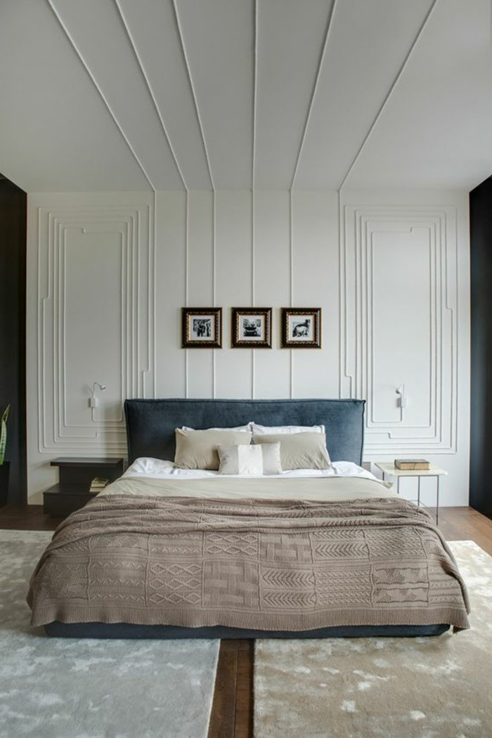 chambre lambris blanc trendy chambre esprit chalet. Black Bedroom Furniture Sets. Home Design Ideas