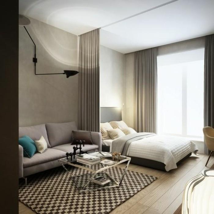 Meubler un studio 20m2 voyez les meilleures id es en 50 photos - Comment meubler un salon carre ...