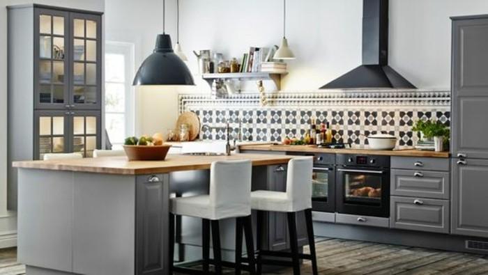 Cuisine Ikea Bois Naturel : meuble bar cuisine americaine en bois naturel, idee cuisine americaine
