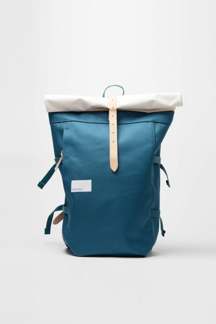 1-sac-a-dos-pas-cher-femme-en-cuir-bleu-comment-porter-le-sac-a-dos-college-fille