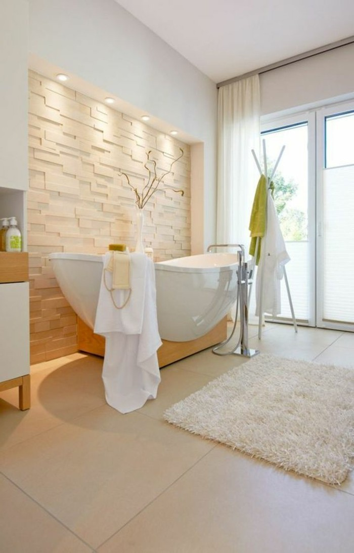 Quelle couleur salle de bain choisir 52 astuces en photos for Salle de bain carrelage gris beige