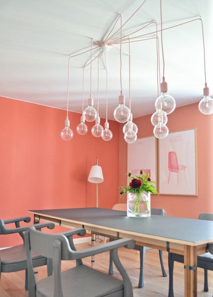 La couleur saumon les tendances chez les couleurs d for Quelle couleur de peinture pour la maison