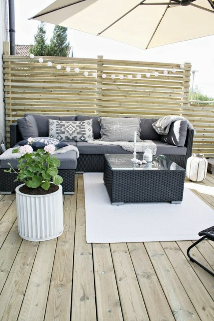 am nager une terrasse plus de 50 id e pour vous. Black Bedroom Furniture Sets. Home Design Ideas