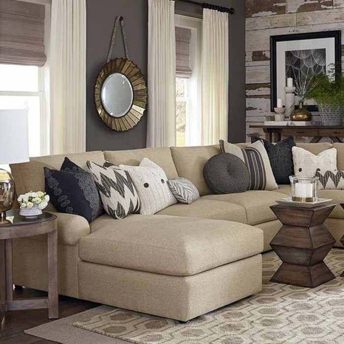 peinture couleur lin plus de 40 photos et exemples. Black Bedroom Furniture Sets. Home Design Ideas