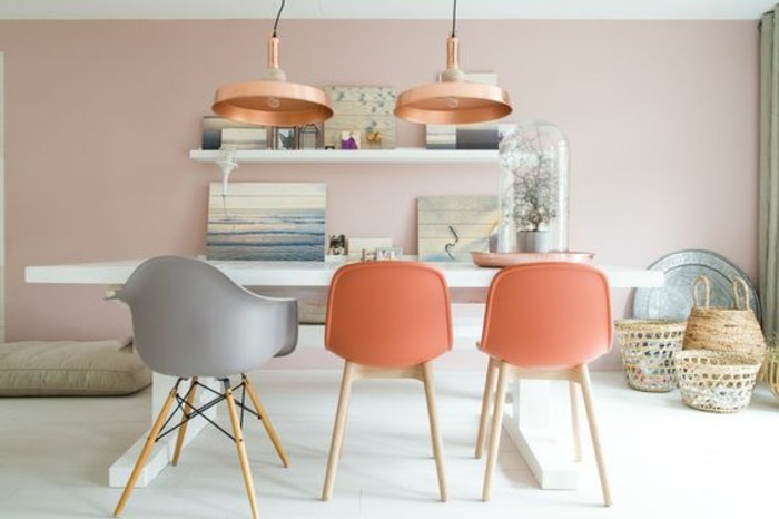 la couleur saumon les tendances chez les couleurs d int rieur. Black Bedroom Furniture Sets. Home Design Ideas