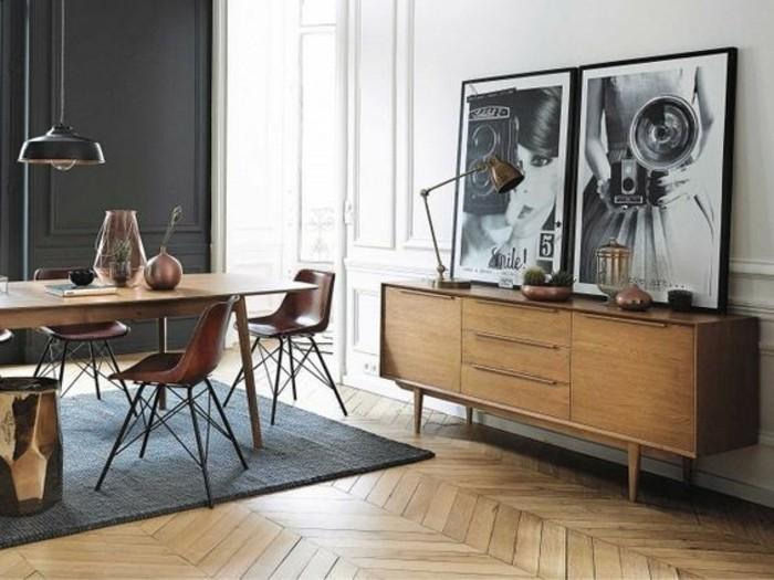 3-déco-appartement-étudiant-sol-en-parquet-tapis-gris-petits-meubles-d-appoint-en-bois