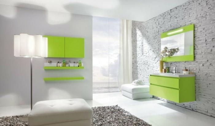 Salle de bain fushia et vert ~ Solutions pour la décoration ...