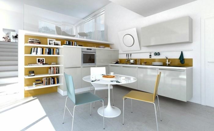 3-petite-table-salle-a-manger-design-tulipe-blanche-chaises-colorés-salle-a-manger-chic