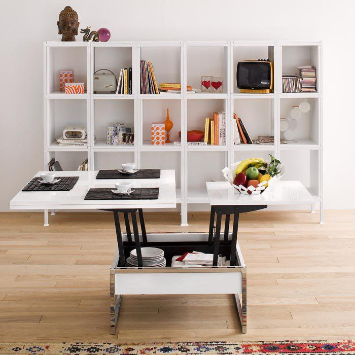 table-gain-de-place-table-blanche-modulable
