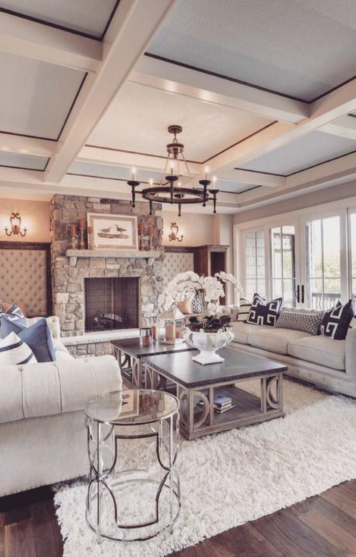 admirable-idée-faux-plafond-contemporain-belle-maison-bien-aménagée