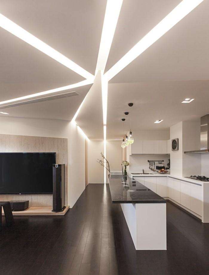 admirable-idée-faux-plafond-contemporain-la-cuisine-moderne