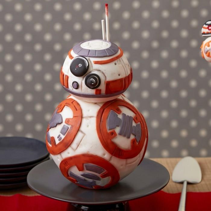 adorable-idée-star-wars-beau-gâteau-d-anniversaire-enfant-idée-déco