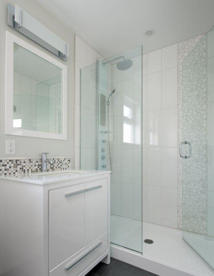 L 39 am nagement petite salle de bains n 39 est plus un for Exemple de salle de bain petit espace