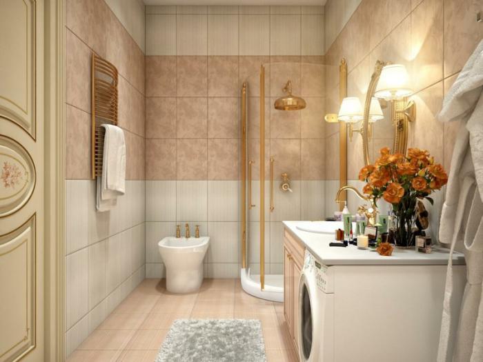 aménagement-petite-salle-de-bains-aménager-avec-petite-cabine-de-douche