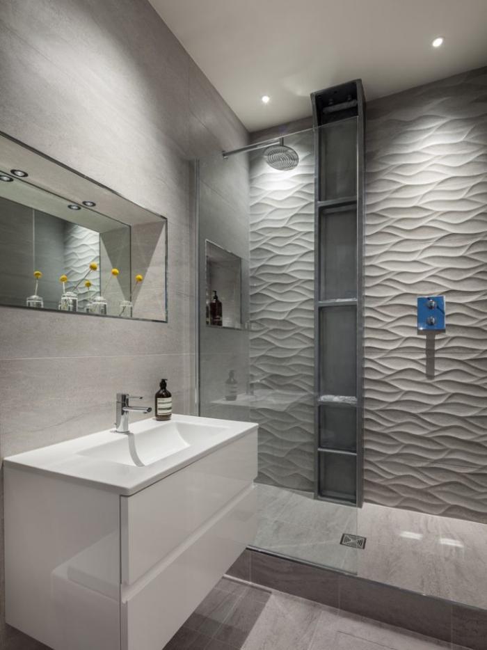 aménagement-petite-salle-de-bains-aménager-petite-salle-de-bain-grise