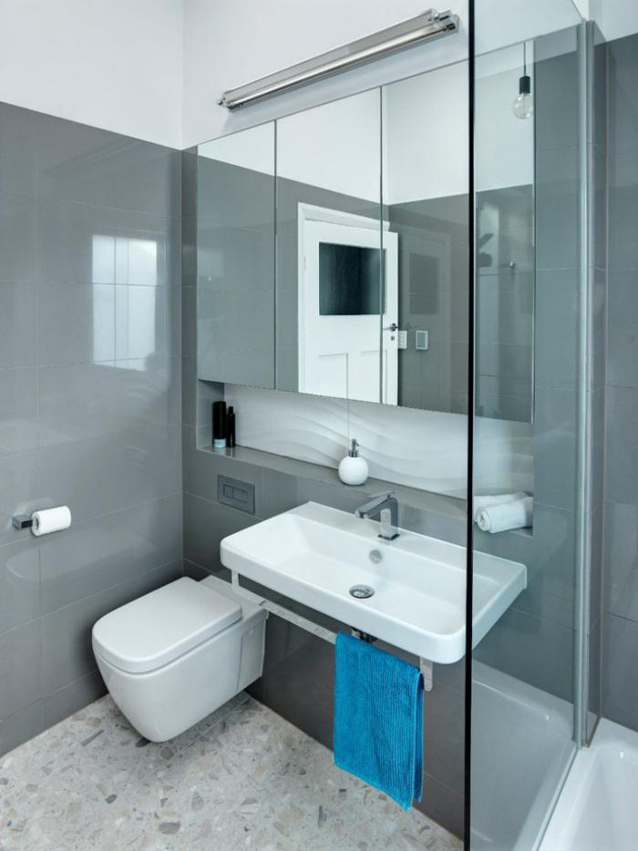 L 39 am nagement petite salle de bains n 39 est plus un - Amenagement salle de bain 2m2 ...