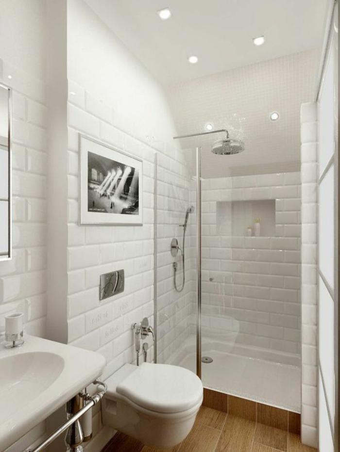 L 39 am nagement petite salle de bains n 39 est plus un for Salle de bain blanc et chocolat