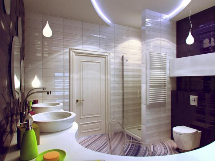 aménagement-petite-salle-de-bains-comptoir-courbé