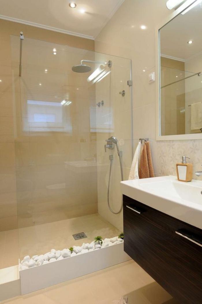 aménagement-petite-salle-de-bains-grande-cabine-de-douche-et-déco-zen