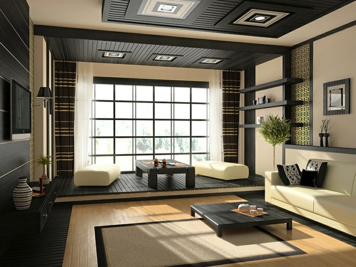 cr er la plus styl e chambre zen beaucoup d 39 id es et d 39 images. Black Bedroom Furniture Sets. Home Design Ideas