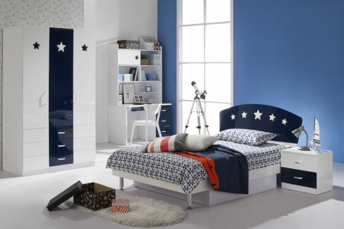 meuble chambre bleu. Black Bedroom Furniture Sets. Home Design Ideas