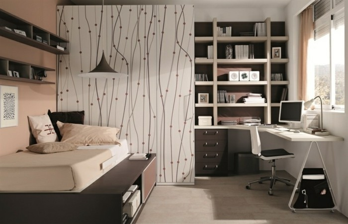 trendy amenagement chambre ado with chambre ado garon alinea. Black Bedroom Furniture Sets. Home Design Ideas