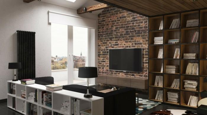 amenager-studio-se-meubler-pas-cher-studio-avec-balcon-tapis-coloré-salon-chic-studio